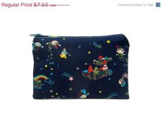 30% ANNIVERSARY SALE Mini Zipper Pouch / Cute Camera Bag With Peter Pan to Neverland. $5.25, via Etsy.