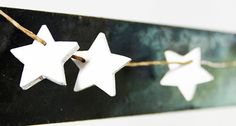 Star Garland  Little Wooden Painted Stars by MobyDesign on Etsy