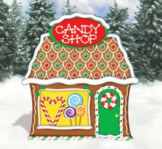 gingerbread candy shop wood pattern wooden christmas yard decorations christmas yard art christmas holidays - Gingerbread Christmas Yard Decorations