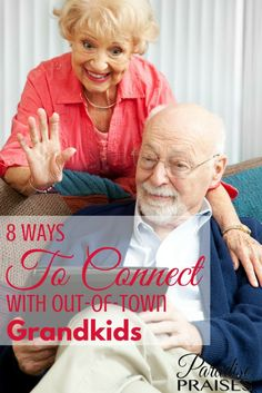 Are you far from your grands? Here are 8 ways to connect with grandchildren or out of town family members and keep the relationships strong. Parenting Articles, Parenting Books, Parenting 101, Kids Jokes And Riddles, Grandchildren, Grandkids, Father Son Quotes, Dad Birthday, Girlfriend Birthday