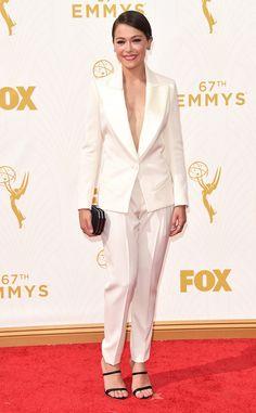 Tatiana Maslany in Bouchra Jarrar Couture at the 2015 Emmys