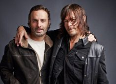 ❤️❤️❤️#NormanReedus and #AndrewLincoln for TV Guide #TheWalkingDead