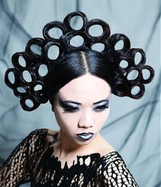 Hairstyle2013 this is the ultimate and relevant creation for the rollerqueen year, fabulous avantgarde hair by .  To be inspired ........Visit   Www.ukhairdressers.com