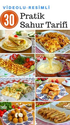 Videolu Sahur Yemekleri -Pratik Tok Tutan Tarifler – Nefis Yemek Tarifleri Vejeteryan yemek tarifleri – The Most Practical and Easy Recipes Turkish Recipes, Ethnic Recipes, Turkish Breakfast, Turkish Kitchen, Egyptian Food, Ramadan Recipes, Best Oatmeal, Iftar, Best Appetizers