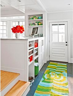 two sided storage kitchen and entrance