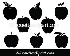 Apple Silhouette Clip Art Download Apple Clip Art