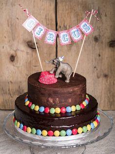 """Zum 3. Geburtstag des Kleinen meiner Freundin Rosa gab es gemäß seinem Wunsch eine Zirkustorte. Zum Motto """"Zirkus"""" kann man sich ja wirklich austoben – aber ich wollte die Bühne n…"""