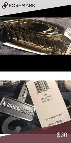 NWT Steve Madden Ant Nickel, chain belt This shinny Steve Madden belt, will add some flair to all your lovely outfits. This items is NWT. Happy Poshing. Steve Madden Accessories Belts