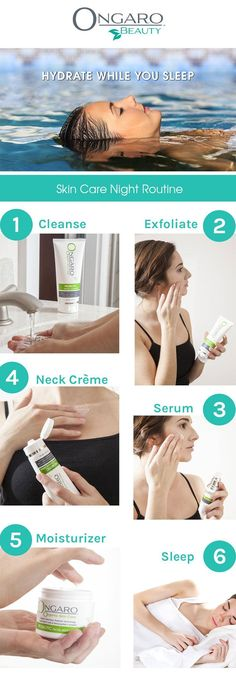 Before you head to bed, make sure you've got your nighttime skincare routine down to a T.  Don't forget these 5 important skincare steps. Shop our Organic Skin Care now at OngaroBeautyStore.com. #organicskincare #skincare #probiotic #cleanser #exfoliator