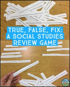 This review game for ANY social studies topic is middle school tested and approved!