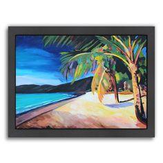 """Americanflat """"Magens Bay St Thomas Usvi"""" Framed Wall Art, Multicolor"""
