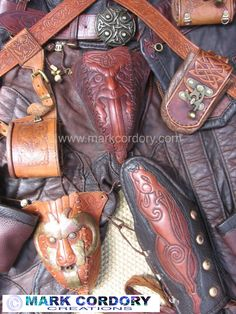 Assorted leatherwork by Mark Cordory Creations