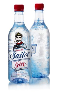 Design: Motherland Good Ol' Sailor Gin on The Dieline Cool Packaging, Beverage Packaging, Bottle Packaging, Brand Packaging, Design Packaging, Coffee Packaging, Wine Design, Bottle Design, Label Design