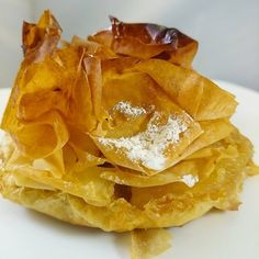 La Croustade aux pommes.....  #menubistronomique #croustade #pastisgascon #pâtisserie #pastry #dessert #faitmaison