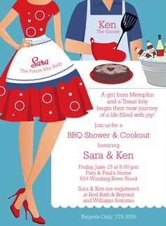 forget the shower invite.... cute for a BBQ with friends or Housewarming