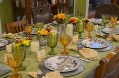 """The """"First"""" Thanksgiving First Thanksgiving, Thanksgiving Tablescapes, Good Ole, The One"""