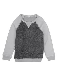 Splendid Official Store, Marled French Terry Sweatshirt, dime, Littles : Toddler Youth : Boy : Tops, SLAO12575Y