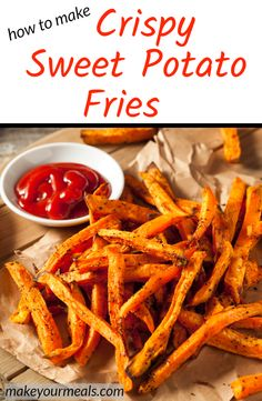 Sweet Potato Fries Recipe How to make the best healthy oven baked sweet potato french fries – homemade roasted crispy fries are simple, quick, and easy to make. Includes tips for how to cut. Whole 30 and paleo approved. Baked Sweet Potato Oven, Sweet Potato Fries Healthy, Homemade Sweet Potato Fries, Making Sweet Potato Fries, Oven Roasted Sweet Potatoes, Homemade French Fries, Fried Potatoes, Sweet Potato Recipes, Oven Baked