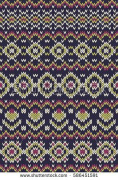 Fair Isle Knitting, Knitting Socks, Hand Knitting, Bead Crochet Rope, Knit Crochet, Stitch Patterns, Knitting Patterns, Fair Isle Pattern, Cross Stitch Borders