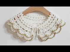 Crochet Baby Shoes, Crochet Clothes, Crochet Lace Collar, Crochet Tablecloth, Crochet Videos, Baby Knitting, Baby Dress, Lace Shorts, Crochet Necklace