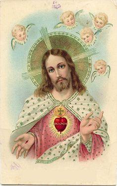 Most Sacred Heart of Jesus - vintage