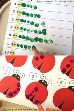 5 manualidades para niños para aprender a contar (PequeOcio) - Preschool Learning Activities, Kindergarten Math, Toddler Activities, Preschool Activities, Therapy Activities, Kids Education, Montessori Education, Montessori Materials, Childhood Education
