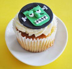 Frankenstein fondant cupcake toppers $24 for 1 dozen
