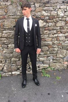 Black Is Back!! Three piece slim fit suit with double breasted waistcoat €169. One thing that always reinvents itself is a well fitted sharp black Suit. This Travis number just landed into us this afternoon.