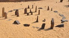 Nabta Playa Stone Circle. An assembly of huge stone slabs found in Egypt's Sahara Desert that date from about 6500 years to 6000 years ago has been confirmed by scientists to be the oldest known astronomical alignment of megaliths in the world.