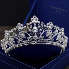 Big Paved Zircon Crown Full Cubic Zircon Tiara Vintage Bridal Diadem Wedding Cosplay Queen – Famous Last Words Hair Jewelry, Wedding Jewelry, Rose Gold Stackable Rings, Color Lila, Anniversary Jewelry, Wedding Anniversary, Anniversary Gifts, Delicate Rings, Tiaras And Crowns
