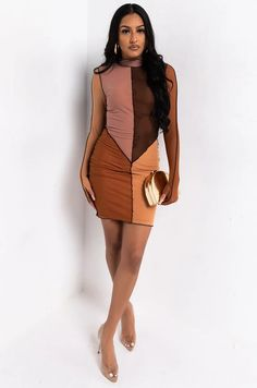 Mini Dress With Sleeves, Long Sleeve Mini Dress, Strapless Mini Dress, Bodycon Dress, Mesh Long Sleeve, Lily, Dresses, Fashion, Vestidos