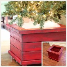 Diy Christmas Tree Stand Front Porches Ideas For 2019 Christmas Tree Box Stand, Diy Christmas Tree, Merry Little Christmas, Christmas Love, Christmas Projects, Winter Christmas, All Things Christmas, Christmas Decorations, Christmas Ideas