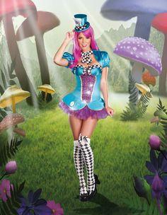 Sexy Mad Hatter Alice in Wonderland Costume #halloween