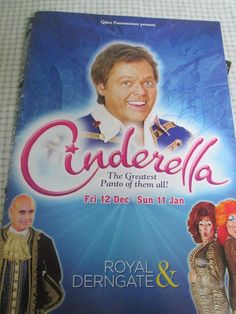 Genuine autograph - Jimmy Osmond in Panto, Cinderella in Northampton. Pantomime, Cinderella, Presents, Music, Movies, Movie Posters, Gifts, Musica, Musik