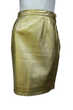 YSL Yves Saint Laurent rive gauche Metallic Gold by Vintageables