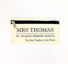 Personalised 'Teacher' Pencil Case