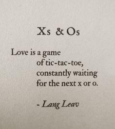X's and O's Lang Leav