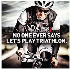 Triathlon: It's a beast-like sport. I'd rather be steelman than beastman. What do you think? J