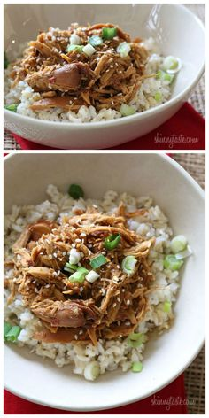 Crock Pot Sesame Honey Chicken from Skinnytaste; sounds great for a #SlowCooker dinner!  [Featured on SlowCookerFromScratch.com]