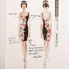 """Maggy London Dress I designed 2011 #renaldobarnette #fashion #fashiondesign #lookoftheday #instalike #instafashion #sketches #designsketch…"""