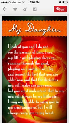 From a mom to her daughter with love