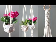 Macrame is a form of textile-making using knotting rather than weaving or knitting. Crafts To Make, Arts And Crafts, Diy Crafts, Free Macrame Patterns, Macrame Plant Hangers, Macrame Projects, Macrame Knots, Weaving, Plants