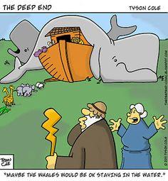 Funny Noah's Ark cartoon