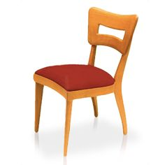 """This is the signature Heywood-Wakefield dining chair. Sometimes referred to as the """"Dog Biscuit"""" chair, it is one of the most recognizable chairs in the world. The M 154 was voted number two in Elle Decor Magazine's list of the ten most comfortable dining chairs in the country – at a price less half that of chair number one! Sturdily-built of solid birch wood, the M 154 A is stylish and strong without being bulky or heavy. The perfect dining chair!"""
