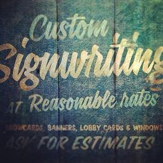 Signwriting by #typehunter