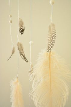 ostrich feather mobile