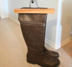 Hang Up Boots #homehacks #organizationtips