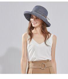 1a257921 SIGGI Womens UPF50+ Linen/Cotton Summer Sunhat Bucket Packable Hats w/Chin  Cord