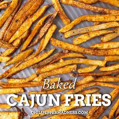 These well seasoned homemade fries are sure to go on regular rotation in your house. Bake in the oven for a healthy side dish. Best Side Dishes, Healthy Side Dishes, Vegetable Side Dishes, Spicy Chicken Recipes, Cajun Recipes, Mexican Food Recipes, Healthy Rice, Dinner Healthy, Garlic Brussel Sprouts