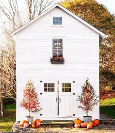 Loving the pumpkins popping up all over front porches here in Tennessee. Fall brings so much beautiful. We filled our baskets full of pumpkins today.  @marthastewart